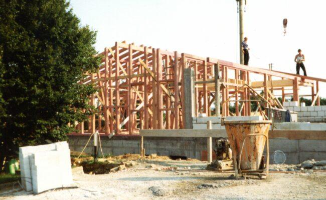 Bild von 1980 Juli Baustelle Mitarbeiterhaus